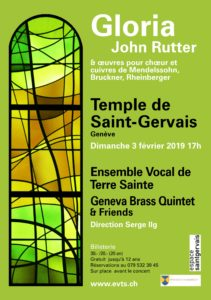 Concert avec l'Ensemble Vocal de Terre Sainte